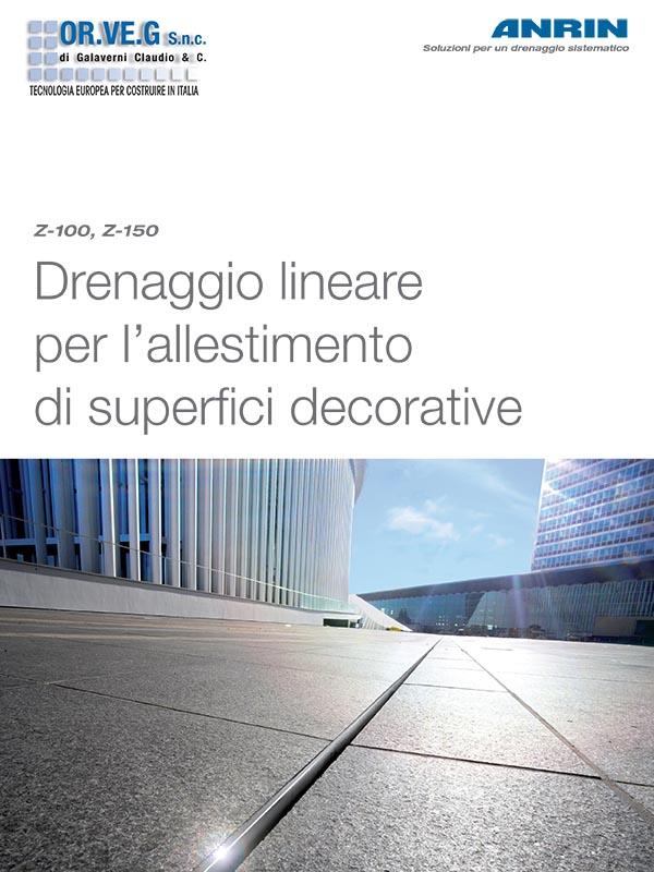 catalogo drenaggio lineare per l'allestimento superfici decorative anrin orveg
