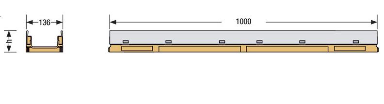 KC KE100 disegno canale orveg